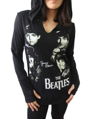 The Beatles Metal Rock DIY Zombie Thumbhole Reverse Stitch Pullover Hoodie Top Shirt
