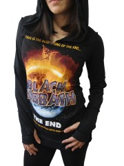 Black Sabbath Metal Rock DIY Zombie Thumbhole Reverse Stitch Pullover Hoodie Top Shirt