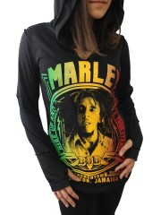 Bob Marley Metal Rock DIY Zombie Thumbhole Reverse Stitch Pullover Hoodie Top Shirt