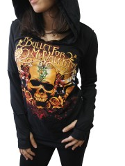 Bullet For My Valentine Metal Rock DIY Zombie Thumbhole Reverse Stitch Pullover Hoodie Top Shirt