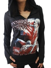 Cannibal Corpse Metal Rock DIY Zombie Thumbhole Reverse Stitch Pullover Hoodie Top Shirt