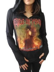 Cradle Of Filth Metal Rock DIY Zombie Thumbhole Reverse Stitch Pullover Hoodie Top Shirt