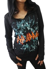 Def Leppard Metal Rock DIY Zombie Thumbhole Reverse Stitch Pullover Hoodie Top Shirt