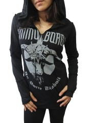 Dimmu Borgir Metal Rock DIY Zombie Thumbhole Reverse Stitch Pullover Hoodie Top Shirt