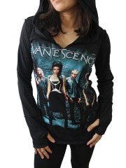 Evanescence Metal Rock DIY Zombie Thumbhole Reverse Stitch Pullover Hoodie Top Shirt
