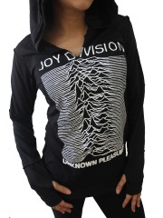 Joy Division Metal Rock DIY Zombie Thumbhole Reverse Stitch Pullover Hoodie Top Shirt