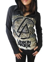 Linkin Park Metal Rock DIY Zombie Thumbhole Reverse Stitch Pullover Hoodie Top Shirt