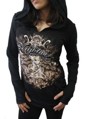 Nightwish Metal Rock DIY Zombie Thumbhole Reverse Stitch Pullover Hoodie Top Shirt
