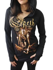 Opeth Metal Rock DIY Zombie Thumbhole Reverse Stitch Pullover Hoodie Top Shirt