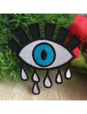 Crying Eye Sew Iron On Embroidered Patch
