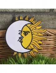 Moon Sun Gypsy Sew Iron On Embroidered Patch