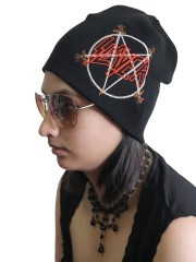 Slayer Rock Band Embroidered Logo Black Beanie Cap Hat