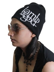 Lamb Of God Rock Band Embroidered Logo Black Beanie Cap Hat