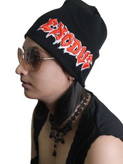 Exodus Rock Band Embroidered Logo Black Beanie Cap Hat