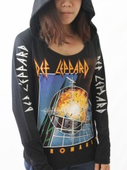 Def Leppard Heavy Metal  DIY Light-Weight Hoodie Jacket Top Shirt