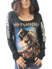 Disturbed Heavy Metal  DIY Light-Weight Hoodie Jacket Top Shirt