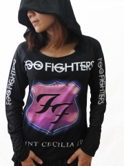 Foo Fighters Heavy Metal  DIY Light-Weight Hoodie Jacket Top Shirt