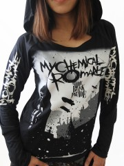 My Chemical Romance Heavy Metal  DIY Light-Weight Hoodie Jacket Top Shirt