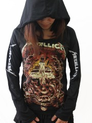 Metallica Heavy Metal  DIY Light-Weight Hoodie Jacket Top Shirt