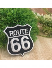 Route66 Highway Sew Iron On Embroidered Patch
