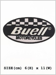 Buell Motorcycles Racing Sew Iron On Embroidered Patch