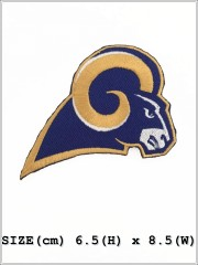 St. Louis Rams NFL Sew Iron On Embroidered Patch