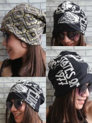 Led Zeppelin Hipster Gypsy Reversible Beanie Cap Hat