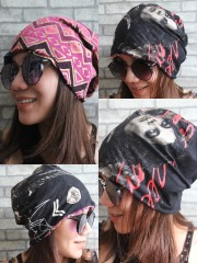Michael Jackson Hipster Gypsy Reversible Beanie Cap Hat