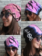 Foo Fighters Hipster Gypsy Reversible Beanie Cap Hat