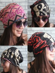 Misfits Hipster Gypsy Reversible Beanie Cap Hat