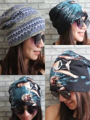 Evanescence Hipster Gypsy Reversible Beanie Cap Hat