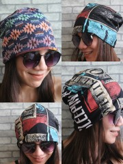 Sleeping With Sirens Hipster Gypsy Reversible Beanie Cap Hat