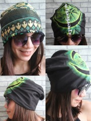 A Perfect Circle Hipster Gypsy Reversible Beanie Cap Hat
