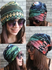 Rob Zombie Hipster Gypsy Reversible Beanie Cap Hat