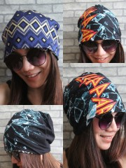 Def Leppard Hipster Gypsy Reversible Beanie Cap Hat