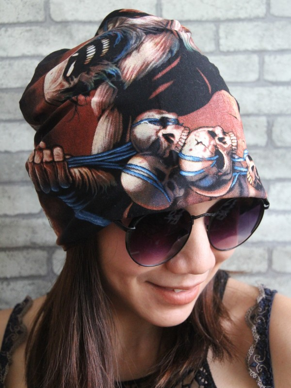 Disturbed Hipster Gypsy Reversible Beanie Cap Hat