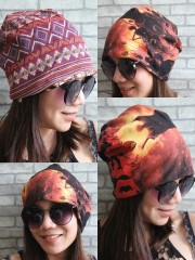 Deicide Hipster Gypsy Reversible Beanie Cap Hat