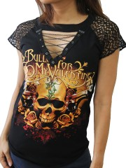 Bullet For My Valentine Rock DIY Womens Gothic Choker Top Tee T-shirt