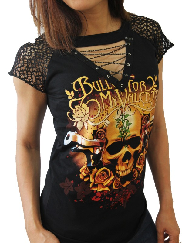 Bullet For My Valentine Rock Diy Womens Gothic Choker Top