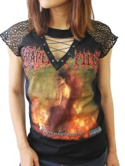 Cradle Of Filth Rock DIY Womens Gothic Choker Top Tee T-shirt