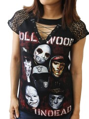 Hollywood Undead Rock DIY Womens Gothic Choker Top Tee T-shirt
