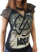 Linkin Park Rock DIY Womens Gothic Choker Top Tee T-shirt