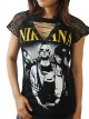 Nirvana Rock DIY Womens Gothic Choker Top Tee T-shirt
