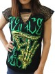 Pierce The Veil Rock DIY Womens Gothic Choker Top Tee T-shirt