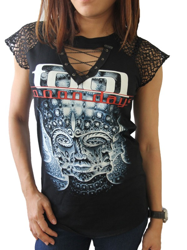 tool rock diy womens gothic choker top tee t-shirt - skullangel diy ...