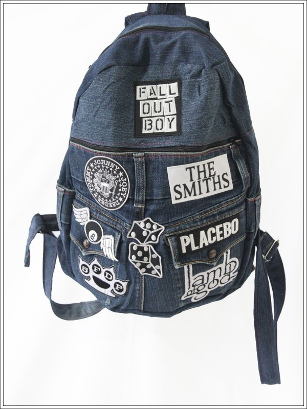 Denim Backpack Fall Out Boy The Smith Ramones