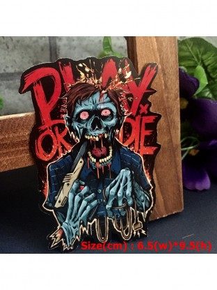 Play Or Die Hipster Spooky Horror Monster Graphic Art