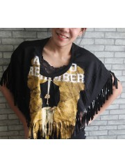A Day To Remember Hipster Gypsy Fringe Poncho Scarf Bikini Cover