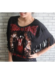 Cradle Of Filth Hipster Gypsy Fringe Poncho Scarf Bikini Cover
