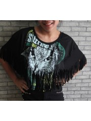 Sleeping With Sirens Hipster Gypsy Fringe Poncho Scarf Bikini Cover